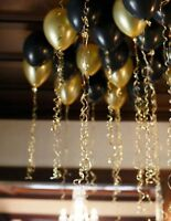 Gold & Black Latex Balloons helium/air filled ballons for party birthday wedding
