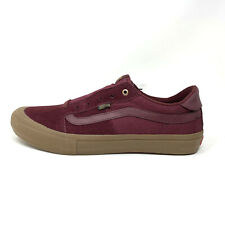 Vans Style 112 Pro Port Royale Gum Maroon Men's 13 Skate Shoes New Burgundy