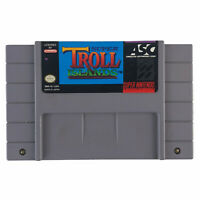 Super Troll Islands (Super Nintendo, 1994) Authentic Tested Works