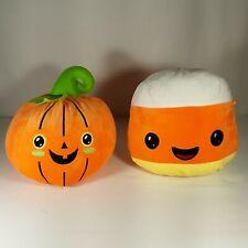 "Halloween Pumpkin and Candy Corn Plush Stuffed Animals Decoration Squishy 9"""
