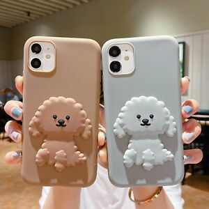3D Cute Teddy Dog Ultrathin Soft TPU Phone Case Silicone Shell For Various Cover