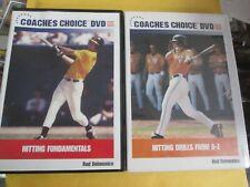 2 x Hitting Drills From A-Z (DVD, Coaches Choice) Batting, Baseball Training