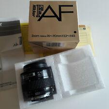 NIKON AF ZOOM NIKKOR 35-70mm f/3.3~f/4.5 Objektiv lens + caps + Anleitung OVP