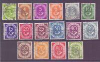 Bund 1951 - Posthorn - MiNr. 123/138 rund gestempelt - Michel 50,00 € (885)