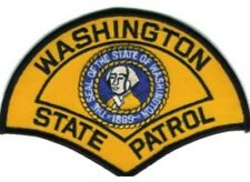 """WASHINGTON STATE PATROL - STATE POLICE EMBROIDERED PATCH - IRON-ON -- NEW 3"""""""