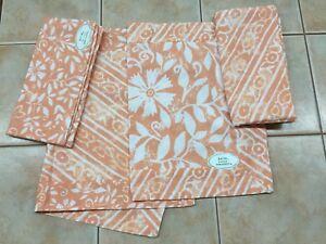 Park Designs Batik Double Sided Coral 4 Placemats & 4 Napkins, or 2 Placemats
