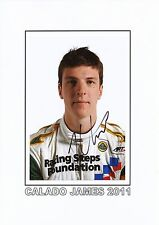 James Calado 2011 Motorsport auto foto original firmado 290563-S