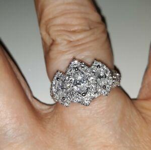 Zales Past Present Future Marquise Diamond Ring 1.5CTW Size 6
