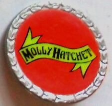 MOLLY HATCHET VINTAGE  LAPEL METAL BADGE 80'S ORIGINAL.