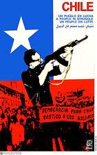 Political Cuban POSTER.ALLENDE Fighting.Chile art.am42.OWS.REvolution Art