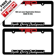2 TRD Toyota Racing Development License Plate Frames-Tundra-Tacoma-SR5-4-Runner