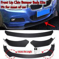 Carbon Look Car Front Bumper Lip Splitter Diffuser Body Spoiler Canard Universal