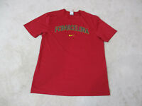 NIKE FC Barcelona Shirt Adult Large Red Blue Dri Fit Soccer Futbol Football Mens