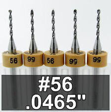 "3/64"" #56 Drill Bit .0465"" - Five Pieces - Models Hobby PCB CNC Dremel R/S"