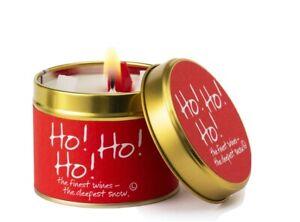 Brand New Lily Flame Ho Ho Ho Christmas Tin Candle-Free P&P