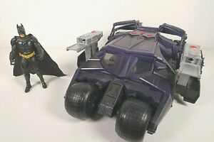 "Batman Begins Batmobile Tumbler H1387 Lights + Sounds 13"" W/ Figure"