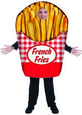 French Fries Costume Tunic Restaurant Fry Fast Food Halloween Boys Girls Mascot