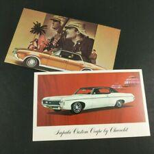 Vintage Postcards Chevrolet Impala Oldsmobile Cutlass Bert Baker Benton IL 1969