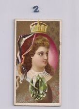 1889 KINNEY BROS N218 FAMOUS GEMS OF THE WORLD DRESDEN GREEN DIAMOND TOBACCO
