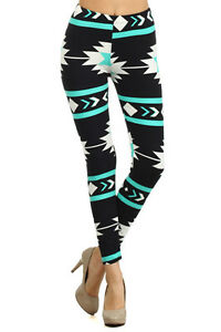 Womens One Size Buttery Soft Graphic Pattern Colorful Print Leggings