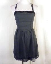 euc Mimi Chica green/black lace Dress Minidress strap party club SZ XS