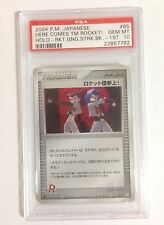 Pokemon PSA 10 GEM MINT HERE COMES TEAM ROCKET Japanese Holo #085/084 1stEd RARE