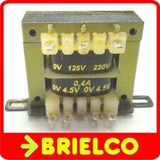TRANSFORMADOR ALIMENTACION 220VAC A 4.5V+4.5V 0.4A 9V 0.2A CHASIS ABIERTO BD8281