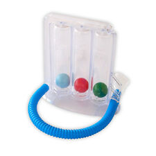 Deep Breathing Lung Exerciser   3-chamber Incentive Spirometer