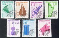 France 1990 Music/Musical Instruments/Pre-cancel/Violin/Harp/Piano 7v set n40239
