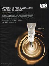Publicité Advertising 2010  ROC rides correxion anti-rides