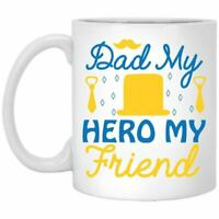 Father's Day Coffee Mug Dad My Hero My Friend Coffee Mugs Gift For Dad On