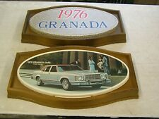 Oem Ford 1976 Granada Showroom Display Picture Pair Set Ghia