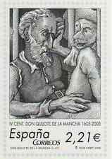 SELLOS ESPAÑA 2005. DOCUMENTO CONMEMORATIVO IV CENT. DON QUIJOTE FNMT TAMAÑO A4.