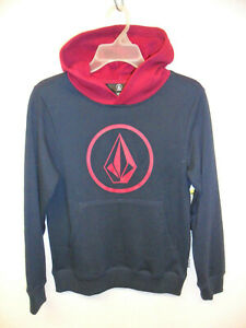 VOLCOM Boy's Big Youth Pullover Hoodie STONE - NVY - Small - NWT