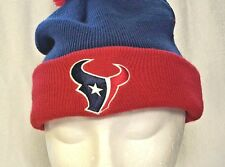 HOUSTON TEXANS NFL Team Apparel On Field Beanie Pom Knit Stocking Cap