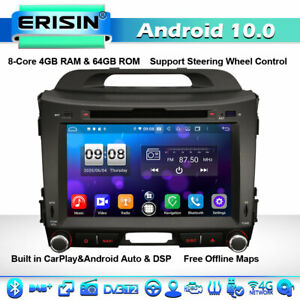 8-Core DSP Android 10.0 Car Stereo Sat Nav For Kia Sportage DAB+ 4G WiFi CarPlay