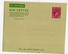 NIGERIA AEROGRAMME 1d, KG VI LOCAL RATE, SCARCE                         (C894)