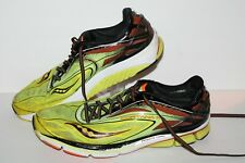 Saucony Cortana 4 Running Shoes, Yellow/Red/Black, Mens US Size 13