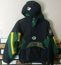 Vtg Pro Line Authentic Green Bay Packers Pullover Winter Jacket Coat Size L KIDS