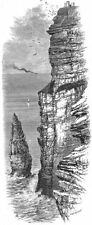 IRELAND. Cliffs of Moher 1888 old antique vintage print picture