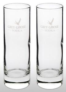 Grey Goose Vodka Tall Glass X2 New & Rare