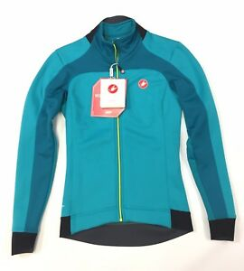 Castelli Women's Donna Mortirolo 2 Teal Cycling Jacket NEW
