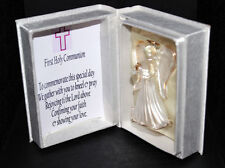Unique  First Holy Communion Commemorate Girl with Crystal Angel #1
