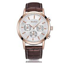 Luxury Rose Gold Chrono Watch Time Elegant Business Present Man Gift UK Warranty
