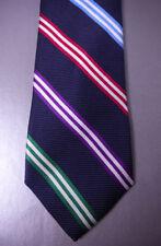 BROOKS BROTHERS Silk Tie Navy Blue Repp Stripe MSRP $79.50  NWT NEW USA