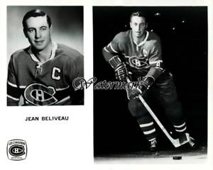 NHL Montreal Canadiens Captain Jean Beliveau 8 X 10 Photo Picture