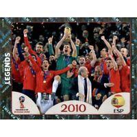 Panini WM 2018 679 Legends Spanien Spain 2010 World Cup WC 18Wappen Foil