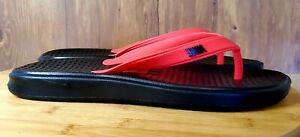 Nike Solay Thong Flip Flops Sandals Black/Red Men's Size 11  882690-601