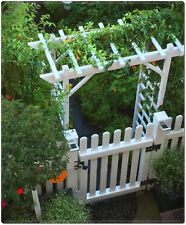 Classic White Arch Arbor Garden Backyard Patio Archway Wedding Decor Trellis New