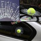 2016 Car Sticker Window Creative 3D Tennis Ball Hit Windshield Decal Decoration